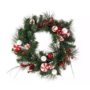 """24"""" Peppermint Wreath by Valerie H205301"""